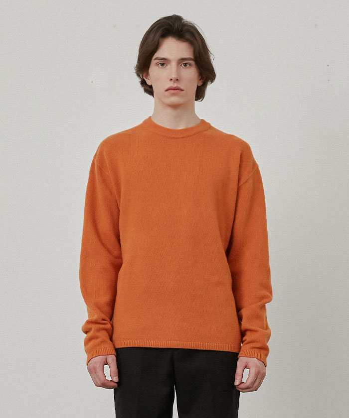 PURE CASHMERE ROUNDNECK KNIT[ORNAGE]