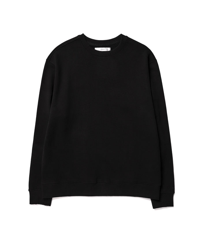 SOFT COTTON SWEATSHIRT[BLACK]