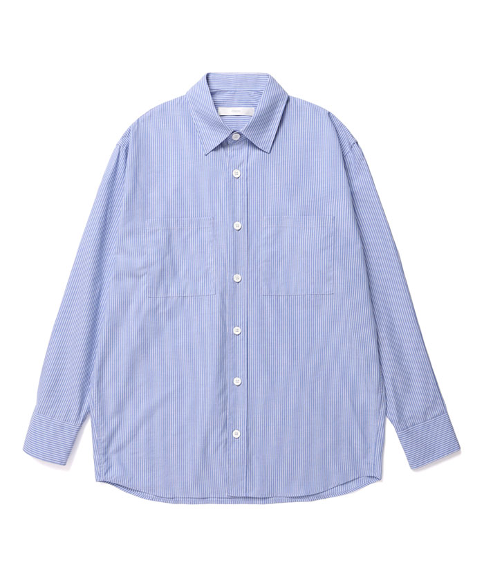 OVERSIZED STRIPE SHIRT[BLUE]