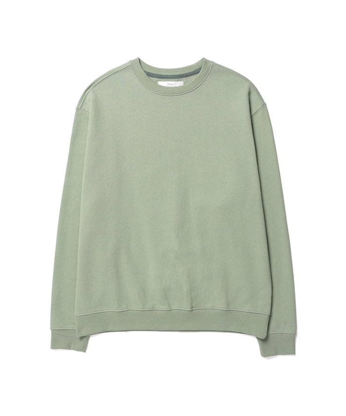 SOFT COTTON SWEATSHIRT[GREEN]