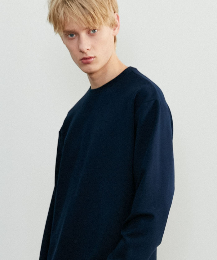 ESSENTIAL LONG TSHIRT[NAVY]