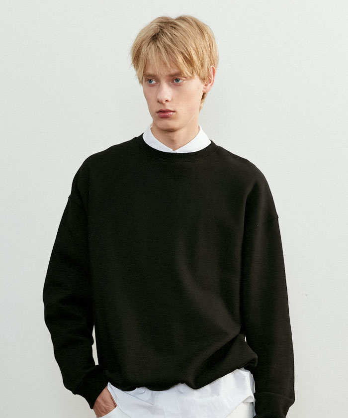 OVERSIZED STRING SWEATSHIRT[BLACK]