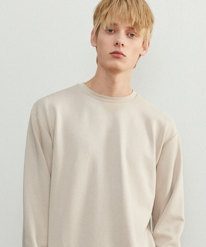 ESSENTIAL LONG TSHIRT[BEIGE]