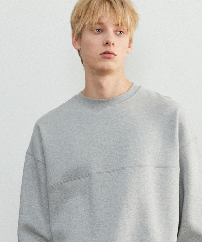 SOFT OVERSIZED SWEATSHIRT[GRAY]