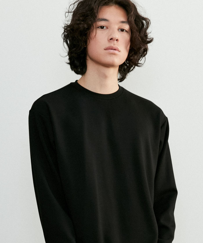 ESSENTIAL LONG TSHIRT[BLACK]