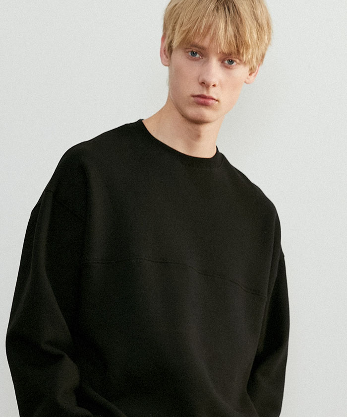 SOFT OVERSIZED SWEATSHIRT[BLACK]