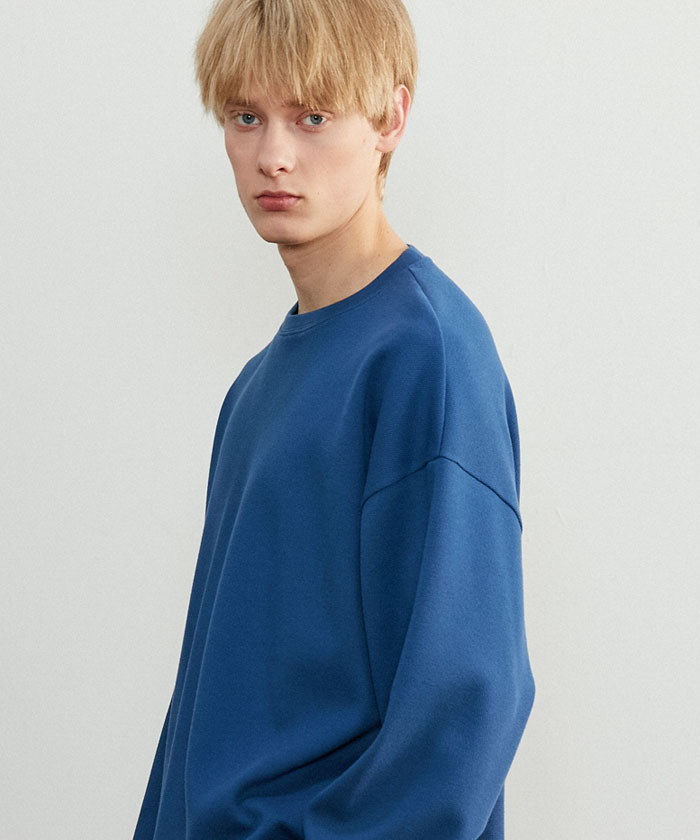 JUST MINIMAL SWEATSHIRT[BLUE]