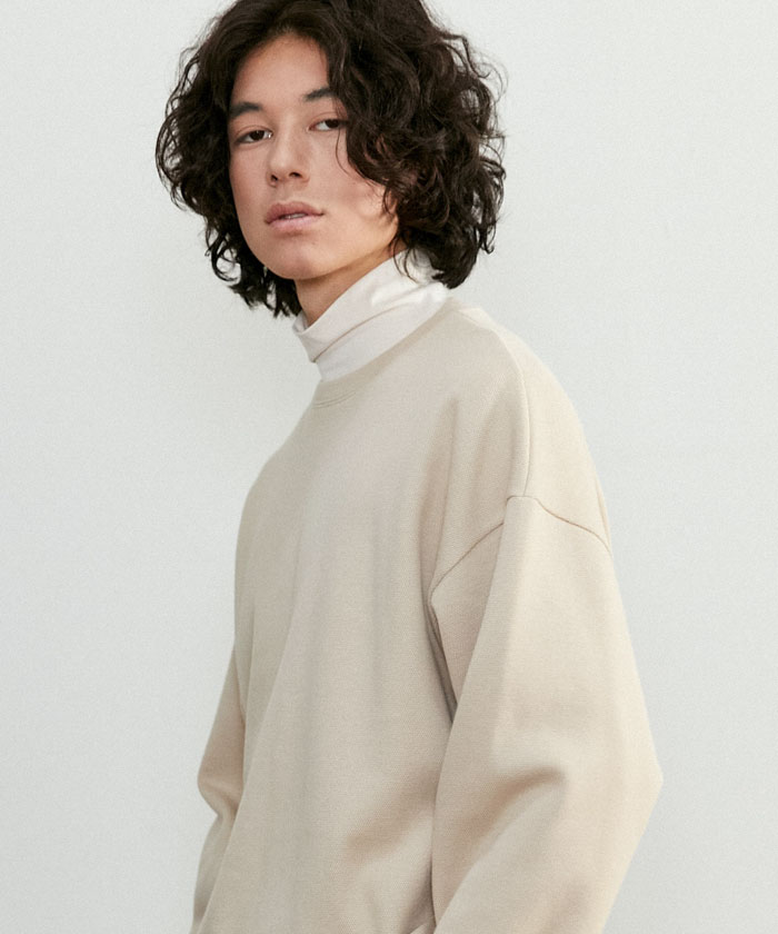 JUST MINIMAL SWEATSHIRT[BEIGE]