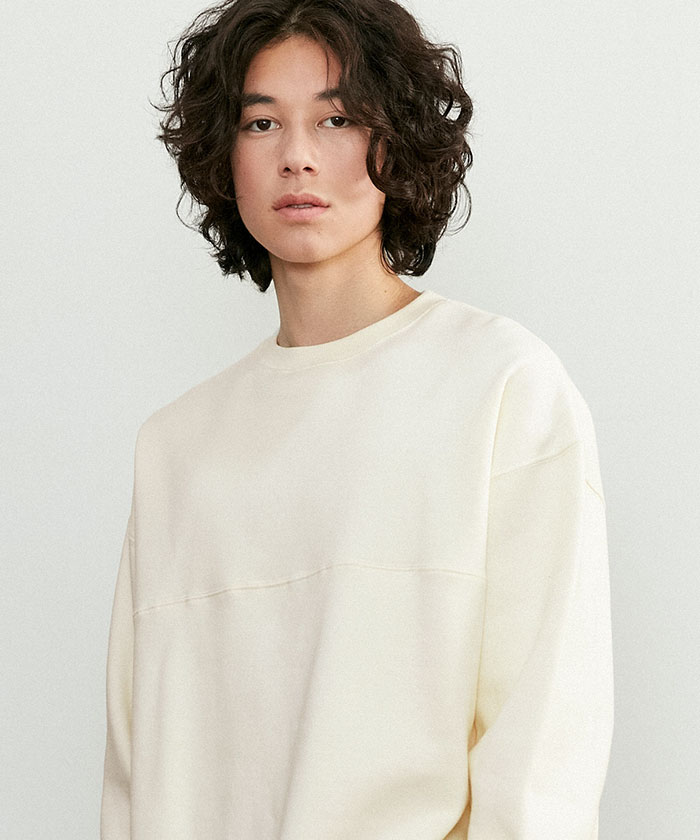 SOFT OVERSIZED SWEATSHIRT[CREAM]