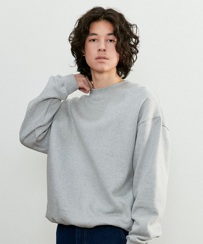OVERSIZED STRING SWEATSHIRT[MELANGE GRAY]