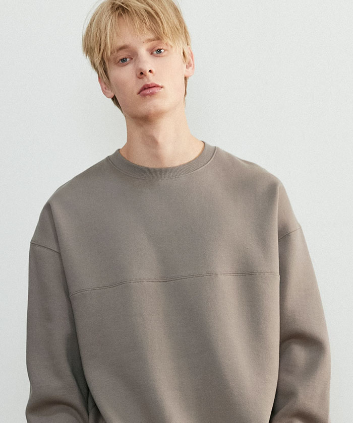 SOFT OVERSIZED SWEATSHIRT[MOCHA]