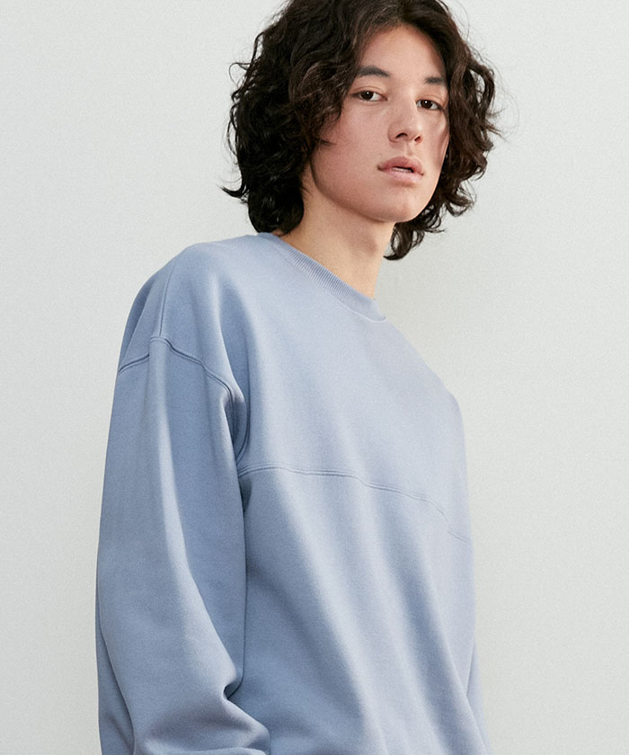 SOFT OVERSIZED SWEATSHIRT[GRAYISH BLUE]