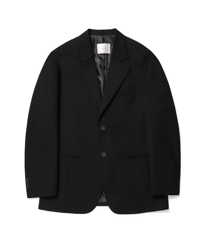 2 BUTTON JACKET[BLACK]