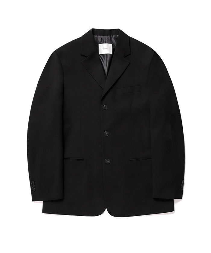 3 BUTTON JACKET[BLACK]