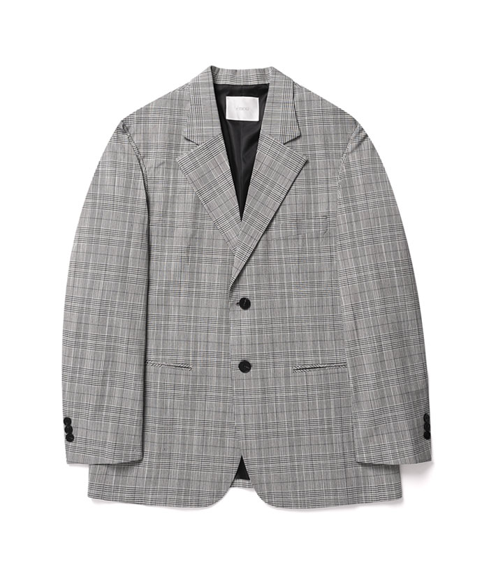 2 BUTTON CHECK JACKET[GLEN CHECK]