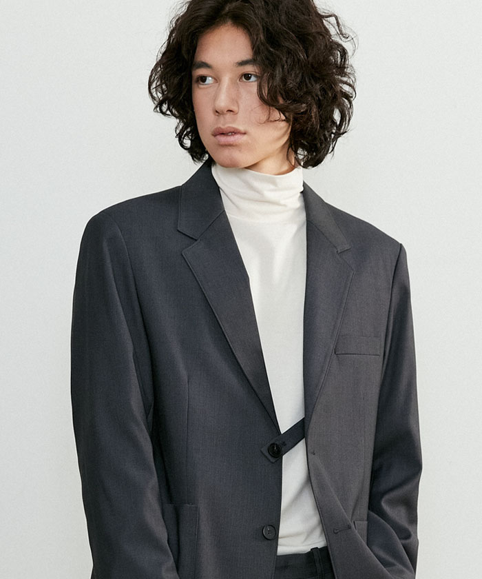 E TAILORED JACKET[GRAY]