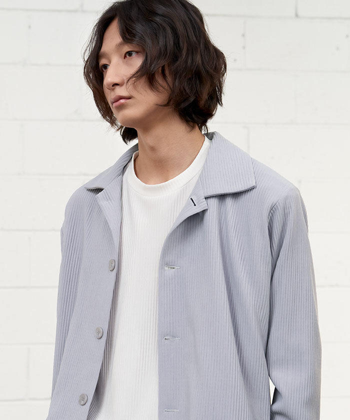 PLEATS MINIMAL JACKET[GREY]