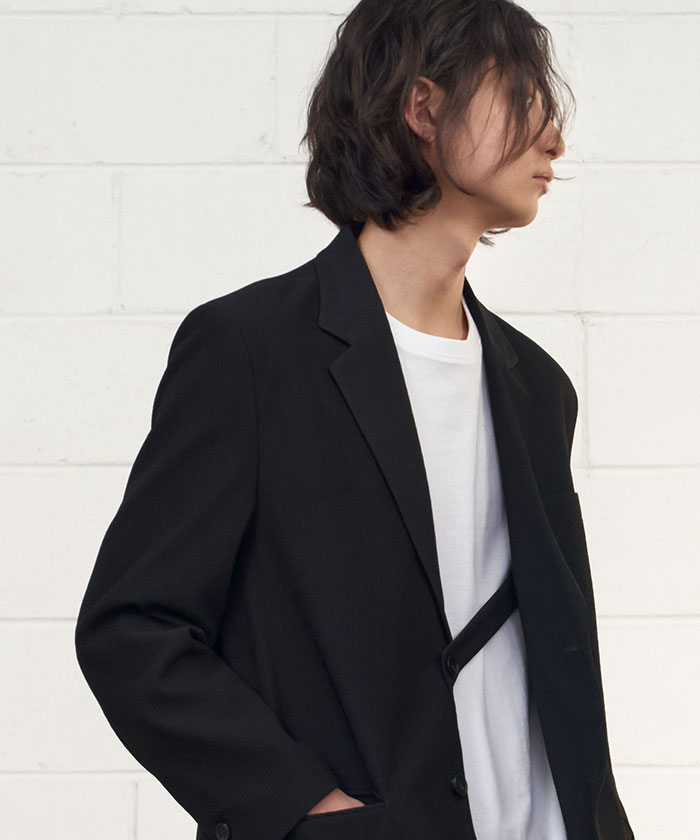 PLEATS JACKET[BLACK]