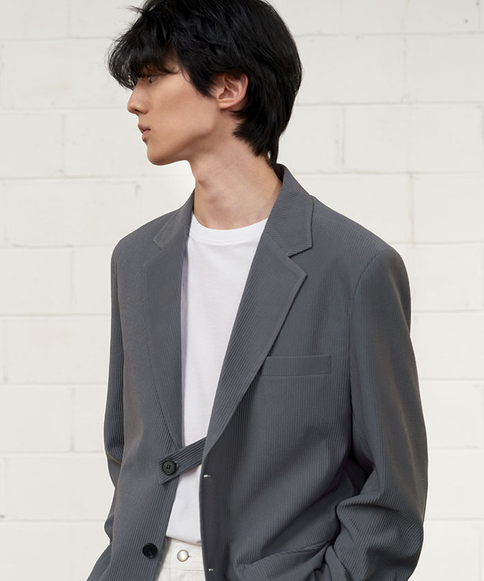 PLEATS JACKET[CHARCOAL]