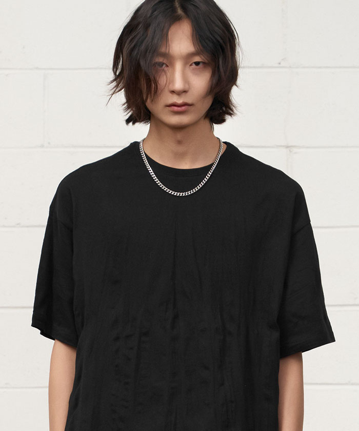 WRINKLE TSHIRT[BLACK]